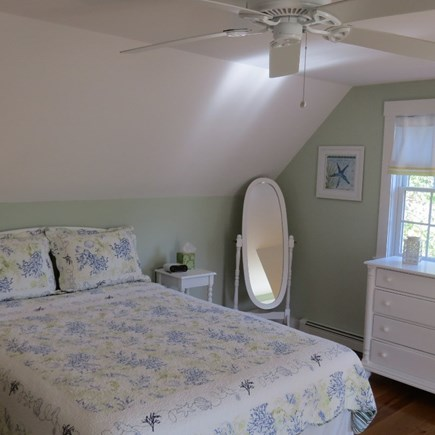 Vineyard Haven Martha's Vineyard vacation rental - 2nd floor quest room with queen bed, TV and ceiling fan