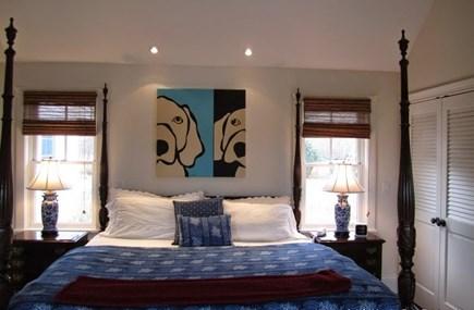 West Tisbury, Makonikey Martha's Vineyard vacation rental - 1st Floor Master w bath en suite w with walk out to back deck