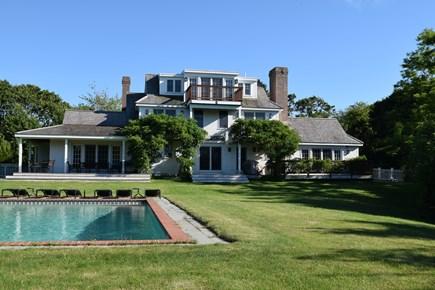 West Tisbury, Makonikey Martha's Vineyard vacation rental - Beautifully landscaped grounds with heated pool