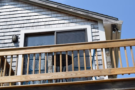 Oak Bluffs, Close to Town Martha's Vineyard vacation rental - Balcony off of 2nd floor Master with table & chairs