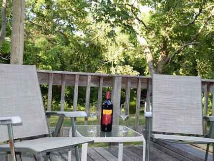 Oak Bluffs, Close to Town Martha's Vineyard vacation rental - Relax on the back deck