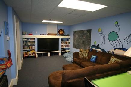 Oak Bluffs, East Chop Martha's Vineyard vacation rental - Finished basement playroom & media center!