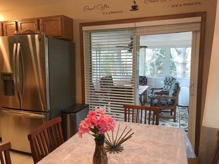 Oak Bluffs Martha's Vineyard vacation rental - Dining Room to Slider to Porch
