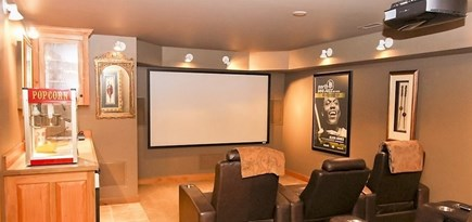 Oak Bluffs Martha's Vineyard vacation rental - Lower Level Media Room complete with Popcorn Machine