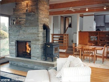 Aquinnah Martha's Vineyard vacation rental - Two Sided Fire Place