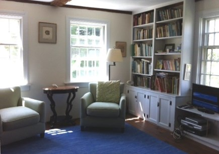 West Tisbury Martha's Vineyard vacation rental - Sunny den with cable TV, DVR.