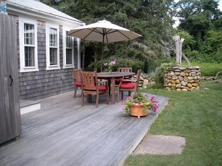 West Tisbury Martha's Vineyard vacation rental - Deck is right off the kitchen for eating outdoors