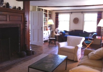 West Tisbury Martha's Vineyard vacation rental - More living room with huge fireplace