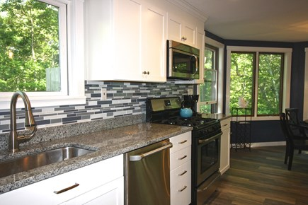 West Tisbury Martha's Vineyard vacation rental - Granite and stainless kitchen
