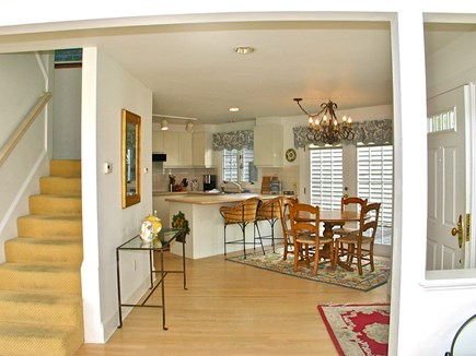 Vineyard Haven Martha's Vineyard vacation rental - Open kitchen with breakfast nook and french doors