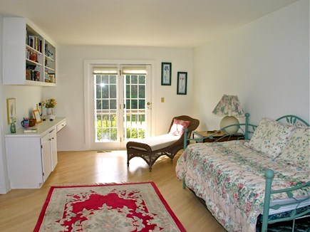 Vineyard Haven Martha's Vineyard vacation rental - First floor bedroom with en suite and private doors to deck