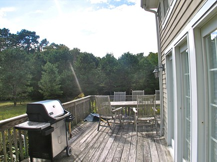 Vineyard Haven Martha's Vineyard vacation rental - Large wrap around deck with gas grill