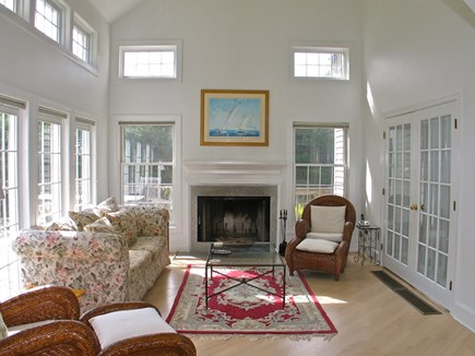 Vineyard Haven Martha's Vineyard vacation rental - Bright spacious living room with access out to the deck