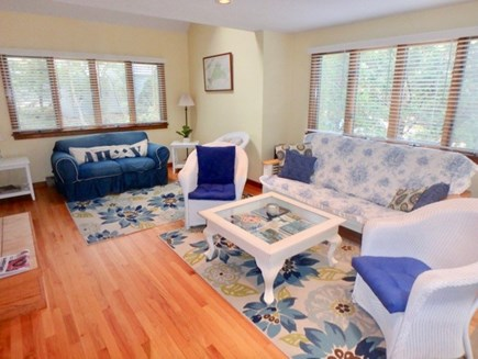 Oak Bluffs Martha's Vineyard vacation rental - Large open living room with fire place
