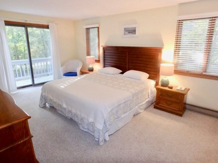 Oak Bluffs Martha's Vineyard vacation rental - King size bed in master bedroom with En suite shower and bathtub