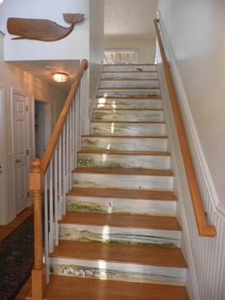 Katama - Edgartown Martha's Vineyard vacation rental - Foyer and stairway