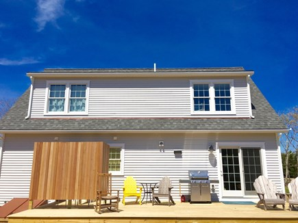 West Tisbury Martha's Vineyard vacation rental - Life on the deck. There will also be a table and chairs.