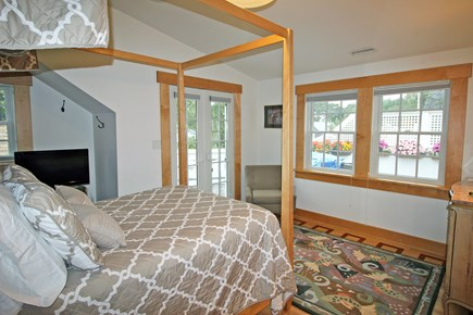 Edgartown Martha's Vineyard vacation rental - Second floor Master Bedroom 2 with view onto deck
