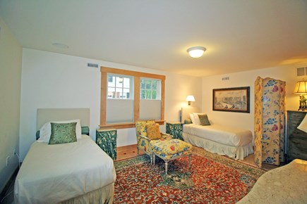 Edgartown Martha's Vineyard vacation rental - Downstairs bedroom with two twin beds; or one king bed