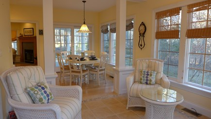 Vineyard Haven Martha's Vineyard vacation rental - Light and Bright Sun/Dining Area opens to Side Porch & Back Deck