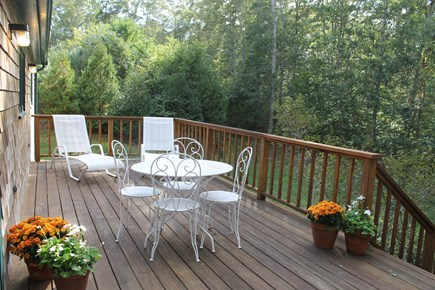 Vineyard Haven Martha's Vineyard vacation rental - Large Deck accessed from Dining Area
