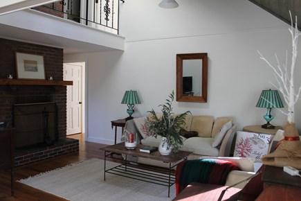 Vineyard Haven Martha's Vineyard vacation rental - Living Room toward Fireplace