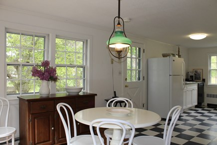 Vineyard Haven Martha's Vineyard vacation rental - Dining Area toward Kitchen (now have table to seat 6)