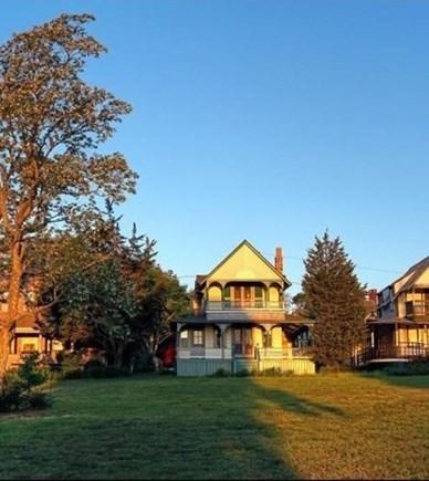Oak Bluffs Martha's Vineyard vacation rental - The second floor porch overlooks park, harbor & Nantucket Sound.