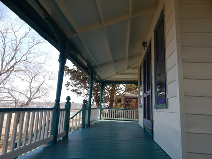 Oak Bluffs Martha's Vineyard vacation rental - A gracious porch looks out over park, lake, harbor and town.