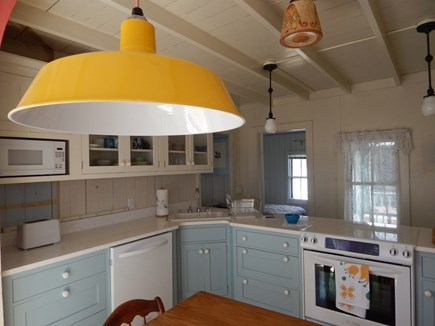 Oak Bluffs Martha's Vineyard vacation rental - Another view of the kitchen with a bedroom beyond.