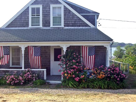 Chilmark Martha's Vineyard vacation rental - The cottage in Fourth of July glory.