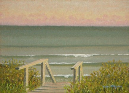 Chilmark Martha's Vineyard vacation rental - Thaw Malin's painting of the steps leading to the beach