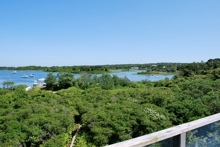 Chilmark Martha's Vineyard vacation rental - View of Quitsa Pond from the back deck.