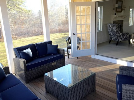 West Tisbury Martha's Vineyard vacation rental - Another view of the screened porch