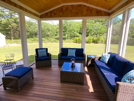 West Tisbury Martha's Vineyard vacation rental - Another view of the screened porch...