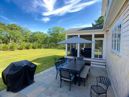 West Tisbury Martha's Vineyard vacation rental - Relax on the patio overlooking the large grassy yard