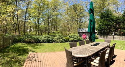 Vineyard Haven, Tisbury Martha's Vineyard vacation rental - Fully enclosed back yard