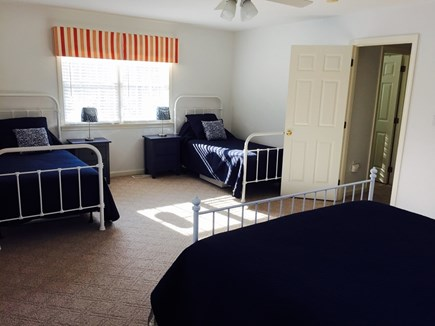 Vineyard Haven, Tisbury Martha's Vineyard vacation rental - 2nd floor bedroom with queen and two twins