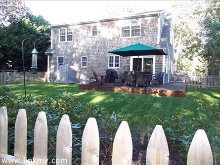 Vineyard Haven, Tisbury Martha's Vineyard vacation rental - View from outside the fence that completely encloses backyard