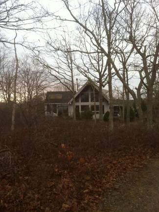 West Tisbury Martha's Vineyard vacation rental - The house is totally surrounded by woods.  Very private.