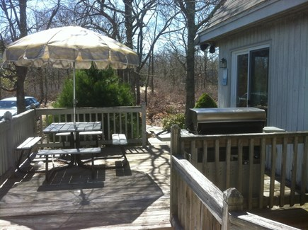 West Tisbury Martha's Vineyard vacation rental - Patio with grill.  Enclosed shower off patio.