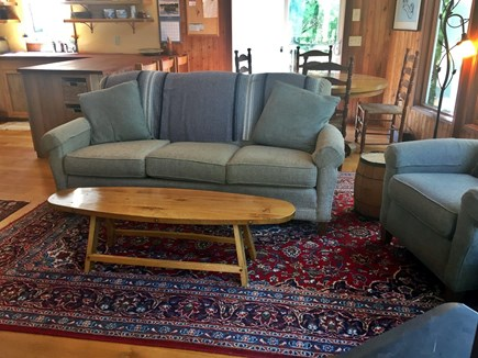 West Tisbury Martha's Vineyard vacation rental - New couch and chair, and hand crafted table.