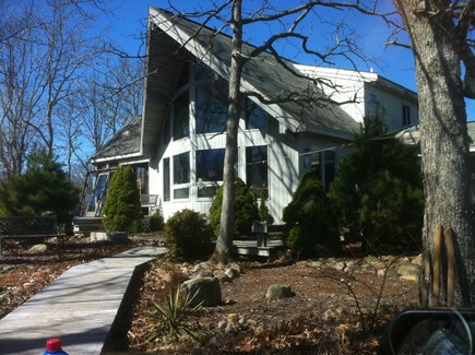 West Tisbury Martha's Vineyard vacation rental - House in the woods in early Spring
