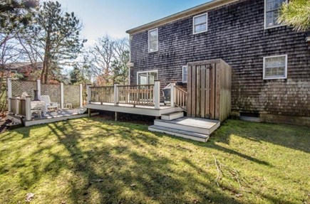 Edgartown Martha's Vineyard vacation rental - Backyard & Deck featuring Outdoor Shower
