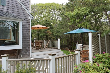 Edgartown Martha's Vineyard vacation rental - Beautiful outdoor mahogany two level deck
