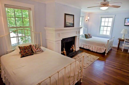 Vineyard Haven Martha's Vineyard vacation rental - Queen Bedroom #3 with en suite bathroom, marble tub/shower.