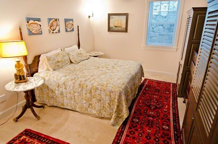 Vineyard Haven Martha's Vineyard vacation rental - King Bedroom #4 with en suite bathroom, marble tub/shower.