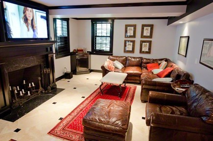 Vineyard Haven Martha's Vineyard vacation rental - Entertainment Room with large flat screen TV and surround sound.