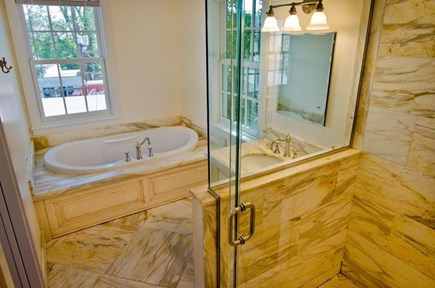 Vineyard Haven Martha's Vineyard vacation rental - King Bath with walk in shower and whirlpool tub.