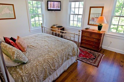 Vineyard Haven Martha's Vineyard vacation rental - King Bedroom #2 with en suite bathroom, marble tub/shower.